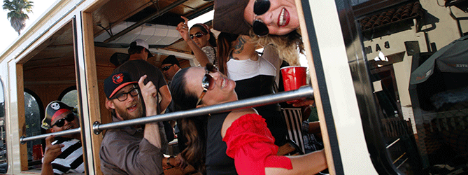 Private events with Santa Barbara Limo Bus