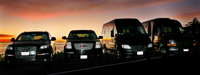 Vehicle fleet at Santa Barbara Limo Bus